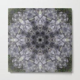 Lava Rock Mandala Metal Print