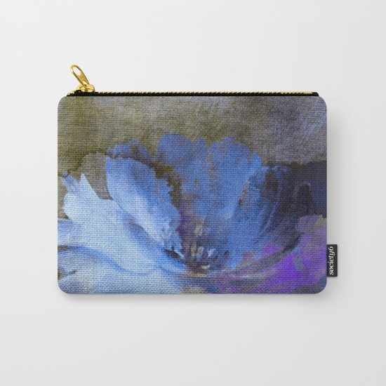 blue abstract flower and old wall Carry-All Pouch