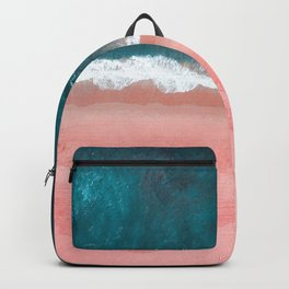 Turquoise Sea Pastel Beach III Backpack