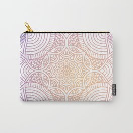 Purple Ethic Floral Mandala Pattern Carry-All Pouch