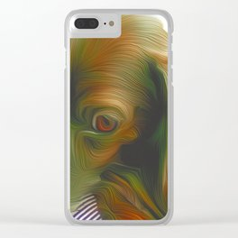 Sad Eye Soush Clear iPhone Case