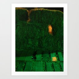 A Hole In The Hay Art Print