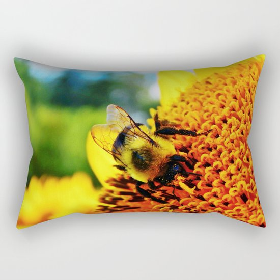 Feasting Bee Rectangular Pillow