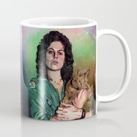 ripley Mugs featuring Ellen Ripley Stamp (Maldita sea tu estampa) by jugogastrico