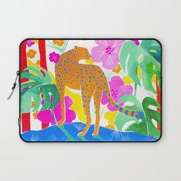 Jaguar in Tropical Garden Laptop Sleeve