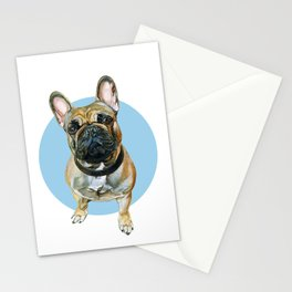 French Bulldog blue spot. Stationery Cards