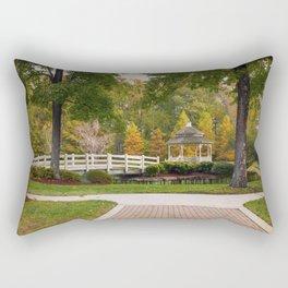 Gazebo In Autumn Rectangular Pillow