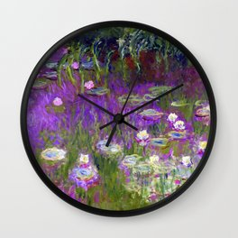 Water Lilies - Claude Monet (proton purple) Wall Clock