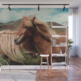 Horses in love Wall Mural