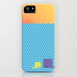 Having a whale of a time iPhone Case