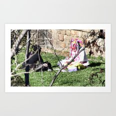 Barcelona: Two girls Art Print
