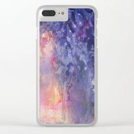 Wisteria Espressivo Clear iPhone Case