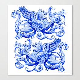 ultramarine griffin in watercolor Canvas Print