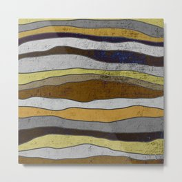Nordic Layers - Abstract, Textured Art Metal Print
