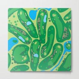 golf course par golf course green Metal Print