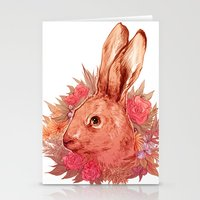 hare Stationery Cards featuring Hare by batcii