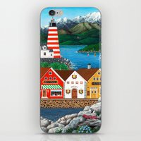 puffin iPhone & iPod Skins featuring Puffin Point by Kirbeekatz