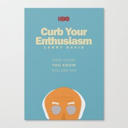 Larry David comedy tv series poster, Enthusiasm, from Seinfeld creator, Woody Allen, Whatever works Canvas Print