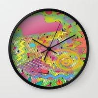 fresh prince Wall Clocks featuring Fresh Prince by TheArtGoon