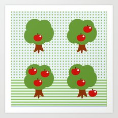 Newton's apples Art Print