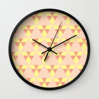 quilt Wall Clocks featuring Quilt. Quilt. Quilt. by Glassy