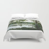 central park Duvet Covers featuring Central park by ChaunceyInk