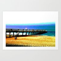 postcard Art Prints featuring Postcard by Shemaine