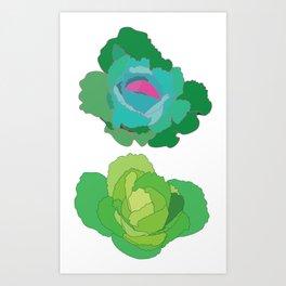 Cabbages Art Print