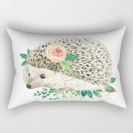 hedgehog with rose Rectangular Pillow
