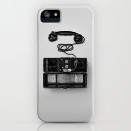 Antique Phone (Black and White) iPhone Case