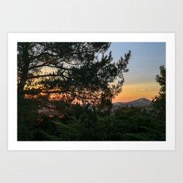 Sunset in Idaho Art Print