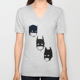Three Batmen Unisex V-Neck