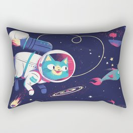 The Adventures of Space Cat Rectangular Pillow