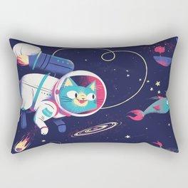 The Adventures of Space Cat Rectangular Pillow
