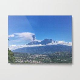 Guatemalan Erupting Volcano Metal Print