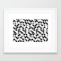 morrocan Framed Art Prints featuring Grey Morrocan Graphic Tiles Pattern by stickerzlab
