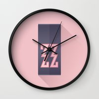 the grand budapest hotel Wall Clocks featuring The Grand Budapest Hotel · Zig Zag Division  by Lorena G