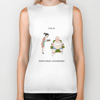 alcohol Biker Tanks featuring F10.10 - Alcohol abuse, uncomplicated by Sicko