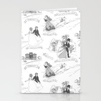 pride and prejudice Stationery Cards featuring Pride and Prejudice Toile by Aimee Steinberger