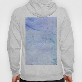 Hand painted blue green abstract watercolor pattern Hoody