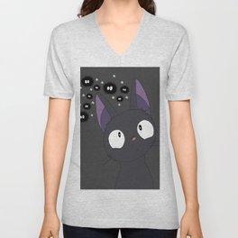 Jiji x sootballs in grey Unisex V-Neck