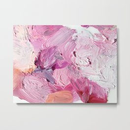 Dreamy Pink Palette (Abstract Painting) Metal Print