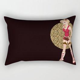 Blonde Bombshell Roller Derby Pinup Rectangular Pillow
