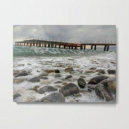 Wave by side Metal Print