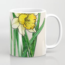 Botanical illustration of a narcissus Coffee Mug