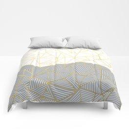 Ab Half and Half Grey Comforters