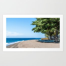 A Bend in the Beach Art Print