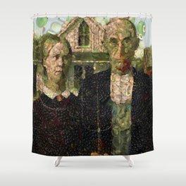 Vegan Gothic Fine Art Parody Shower Curtain