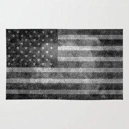 US flag, Old Glory in black & white Rug