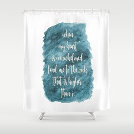 Lead Me - Teal Shower Curtain